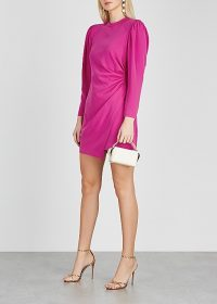 A.L.C. Jane hot pink ruched mini dress ~ side gathered party dresses