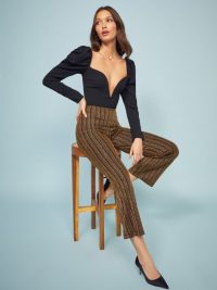 REFORMATION Alix Pant in Gold ~ metallic thread pants