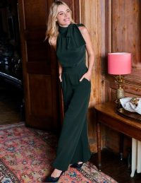 Boden Angelica Jumpsuit in Midnight Garden ~ chic partywear