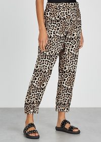ATM ANTHONY THOMAS MELILLO Leopard-print silk trousers