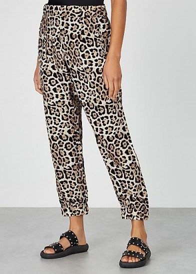 ATM ANTHONY THOMAS MELILLO Leopard-print silk trousers - flipped
