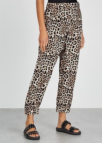 ATM ANTHONY THOMAS MELILLO Leopard-print silk trousers
