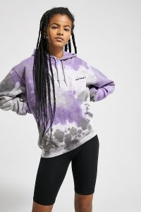 iets frans… Tie-Dye Hoodie in Lilac