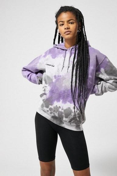 iets frans… Tie-Dye Hoodie in Lilac - flipped