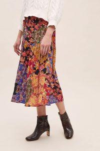 Kachel Diarra Mixed-Print Tiered Skirt – patchwork printed skirts