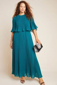 Corey Lynn Calter Pleated Maxi Dress in Holly ~ long floaty evening dresses