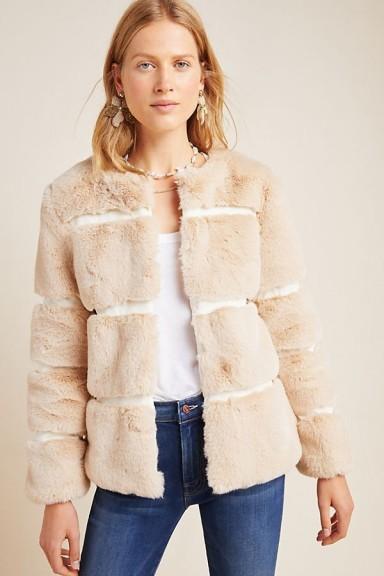 Keepsake Arielle Faux-Fur Jacket in Sand