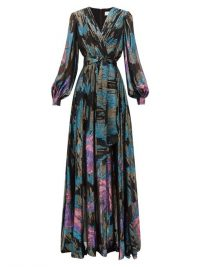 PETER PILOTTO Balloon-sleeve silk-blend georgette gown in black