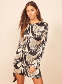 REFORMATION Bernadette Dress in Persephone ~ printed mini dresses