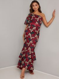 Chi Chi Aster Dress | one shoulder tiered maxi