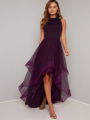 Chi Chi Thais Dress in Berry | layered high low dresses