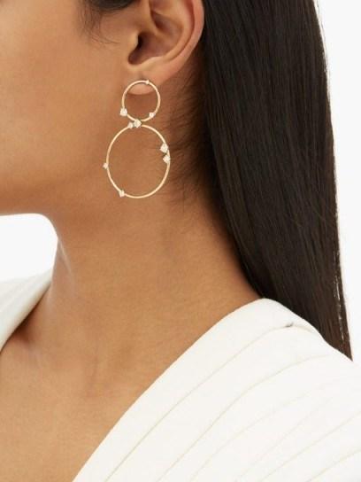 FERNANDO JORGE Circus diamond & 18kt gold hoop earrings ~ luxury double hoops - flipped