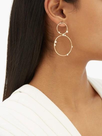FERNANDO JORGE Circus diamond & 18kt gold hoop earrings ~ luxury double hoops