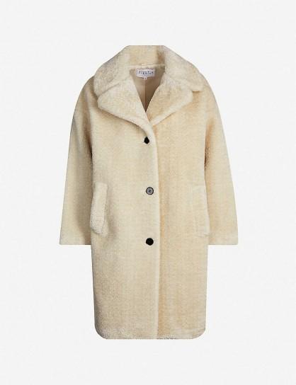 CLAUDIE PIERLOT Fedora faux-fur coat in ecru | classic coats