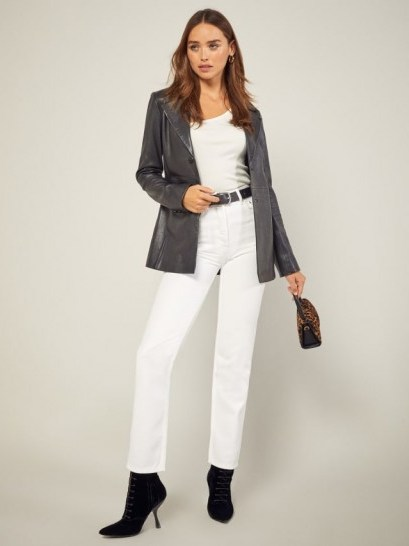 Reformation Cynthia High Relaxed Jean in Vintage White - flipped