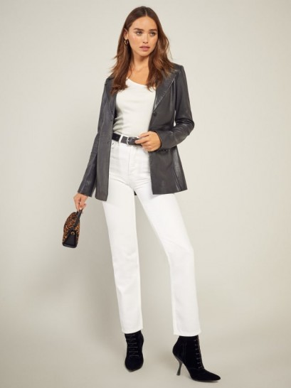 Reformation Cynthia High Relaxed Jean in Vintage White