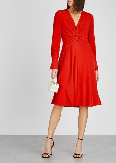 EQUIPMENT Andrea red twisted dress