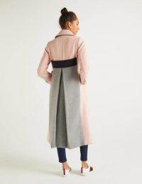 Boden Farleigh Coat in Milkshake ~ longline colourblock coats