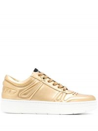 JIMMY CHOO Hawaii F low-top sneakers in gold