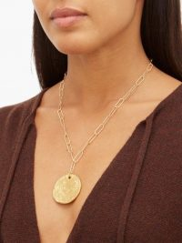 ALIGHIERI Il Leone 24kt gold-plated necklace | coin necklaces | disc pendants