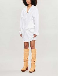 JACQUEMUS La Robe Murano cotton shirt dress in white ~ contemporary clothing