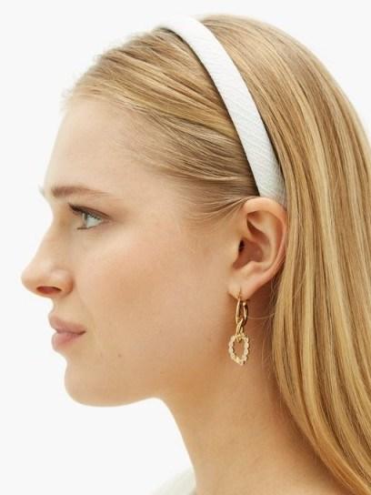 EMILIA WICKSTEAD Kensington satin-cloqué headband in white | headbands | narrow hair bands - flipped