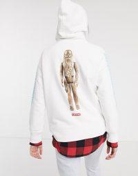 Levi's X Star Wars Chewbacca hoodie in white / logo tops / slogan hoodies