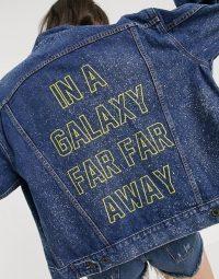 Levi's X Star Wars Force denim jacket in vintage wash / slogan jackets
