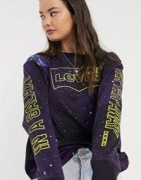 Levi's X Star Wars galaxy print long sleeve tee / slogan t-shirts