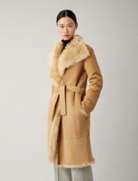 Joseph Liman Soft Toscana Sheepskin in Camel ~ luxury reversible winter coats