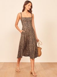 REFORMATION Mary Dress in Cougar