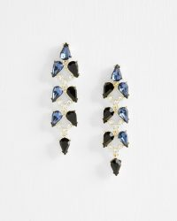 MARLUA Mayfair crystal drop earring in blue ~ party earrings ~ glamorous statement drops