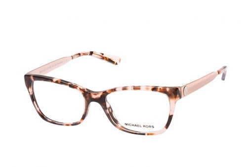 Michael Kors Marseilles MK 4050 3162 pink tortoise frame – stylish glasses – full-rim square / rectangle frames