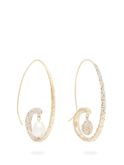 GIVENCHY Moonlight Pearl mismatched hoop earrings / glamorous statement hoops