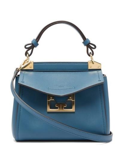 GIVENCHY Mystic mini blue-leather handbag ~ small Italian handbag