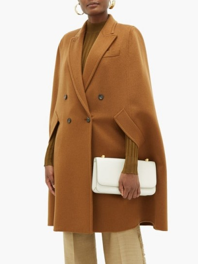 MAX MARA Pampas cape in tan ~ cashmere capes