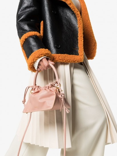YUZEFI mini Bom leather mini bag in pale pink