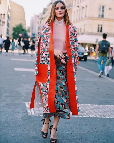 Olivia Palermo in mixed prints