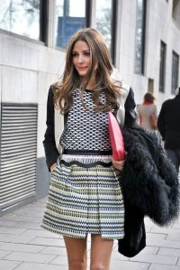 Olivia Palermo multi stripes and spots ~ celebrity street style