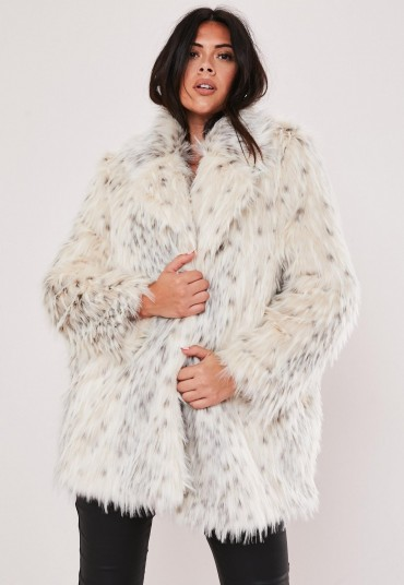 MISSGUIDED plus size premium cream faux fur jacket – luxe style fluffy winter jackets
