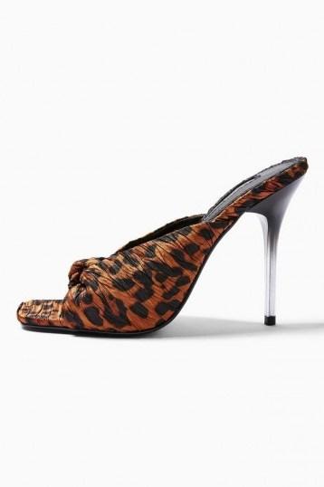 Topshop ROAR Leopard Print Mules   glamorous party heels - flipped