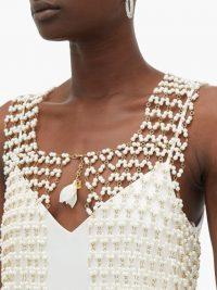 ROSANTICA BY MICHELA PANERO Sentiero faux-pearl vest in white