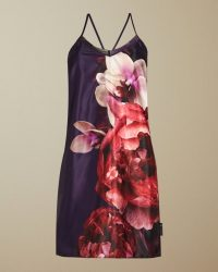 TED BAKER QUALIA Splendour chemise in purple / strappy night time chemises / feminine nighties / nightwear