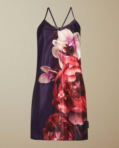 TED BAKER QUALIA Splendour chemise in purple / strappy night time chemises / feminine nighties / nightwear