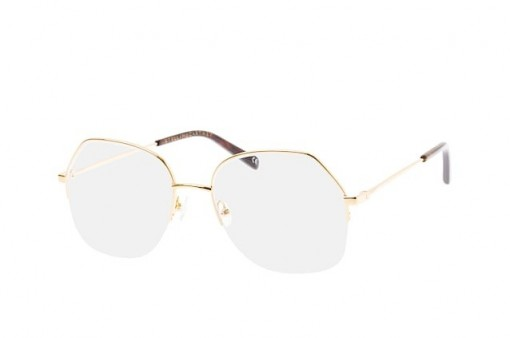 Stella McCartney SC 0159O 001 gold half-rim metal frame – round style frames – funky glasses