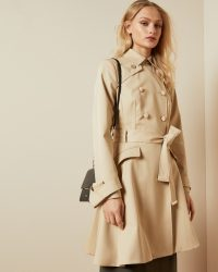 Ted Baker LUCIEY Traditional belted mac in natural ~ classic mac