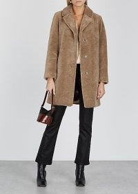 VELVET BY GRAHAM & SPENCER Triselle brown faux shearling coat | luxe coats
