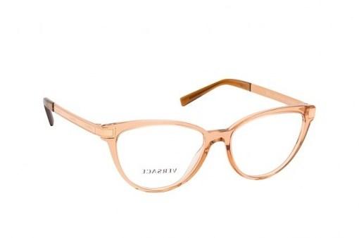 Versace VE 3271 5304 transparent brown frames – Butterfly / Cat eye frame glasses - flipped