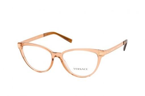 Versace VE 3271 5304 transparent brown frames – Butterfly / Cat eye frame glasses