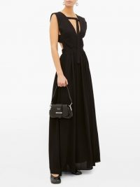 PROENZA SCHOULER V-neckline crepe maxi dress in black